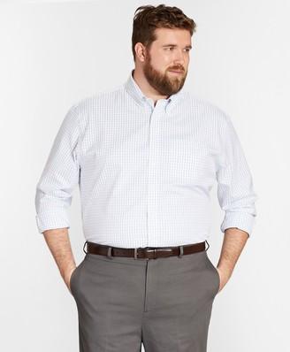 Brooks Brothers Big & Tall Dress Shirt, Non-Iron Windowpane