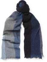 Begg & Co - Checked Lambswool And Cashmere-blend Scarf