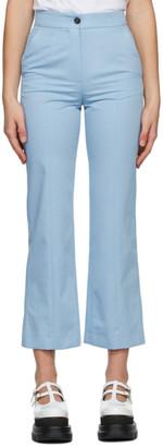 MSGM Blue Straight Leg Trousers