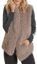 Billabong Women's Furever Love Faux Fur Vest