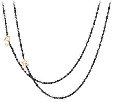 David Yurman Dy Bel Aire Chain Necklace In Black With 14K Gold Accents
