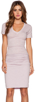 Monrow Heritage V Neck Dress