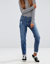 Asos Kimmi Shrunken Boyfriend Jeans in Roxy Mid Wash