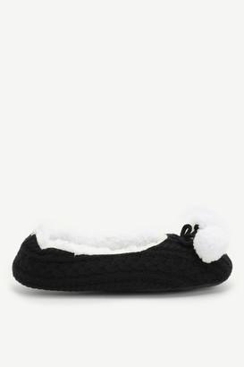 Ardene Pompom Ballet Slippers