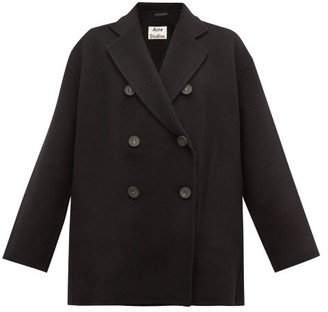 Acne Studios Odine Double Breasted Wool Peacoat - Womens - Black