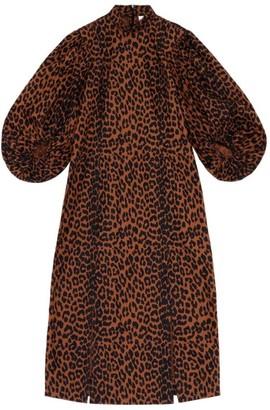 Ganni Leopard Midi Dress