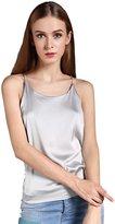 Colyanda Women's Sexy Round Neck Silk Camisole Tank Top (,M)