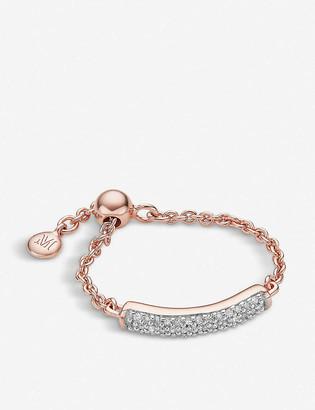 Monica Vinader Fiji 18ct rose-gold vermeil and diamond bar friendship ring