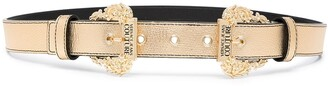 Versace Jeans Couture Baroque-Buckle Metallic Belt