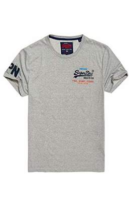 Superdry Men's Vintage Logo CALI Fade LITE TE T - Shirt, Grey Grit QOG, XL