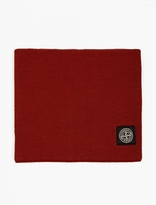 Stone Island Red Wool Snood