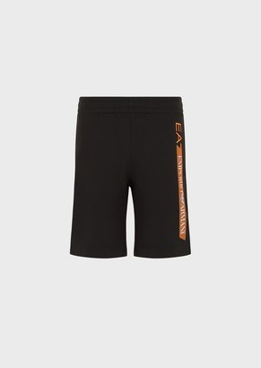 Ea7 Shorts With Metallic Logo