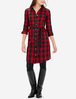 The Limited Plaid Belted Shirtdress
