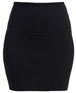 Helmut Lang Women's Rib-Knit Mini Skirt