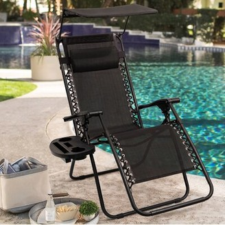 Zero Gravity Nikita Reclining Chair Freeport Park Color: Black