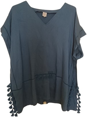 Karl Lagerfeld Paris Marc John Blue Top for Women