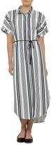 AND SHE WAS Hamilton Stripe Dress