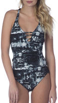 Lucky Brand Global Tie-Dyed Tankini