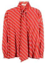Balenciaga Striped Printed Blouse