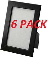 "Ikea Frame 4 X 6"" Black Photo Picture Black (6 Pack)"