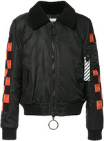 Off-White checker bomber jacket - men - Polyamide/Viscose - M