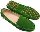 Minitoo TYB9601 Women's Round Toe Suede Leather Loafers Boat Shoes Ballet Flats