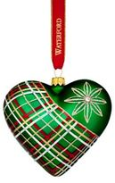Waterford 2017 Holiday Heirlooms Nostalgic Plaid Heart Christmas Ornament