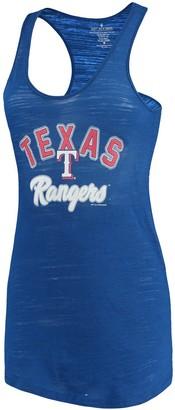 Unbranded Women's Soft as a Grape Royal Texas Rangers Multicount Racerback Tank Top