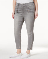 Melissa McCarthy Trendy Plus Size Zip-Pocket Helmet Wash Pencil Jeans