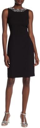 Calvin Klein Bead Trimmed Sheath Dress