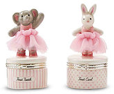 Mud Pie Elephant & Bunny First Tooth & First Curl Set