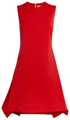 Victoria Beckham Sleeveless Flounce-Hem Dress