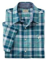 L.L. Bean Bean's Madras Shirt, Slightly Fitted Short-Sleeve