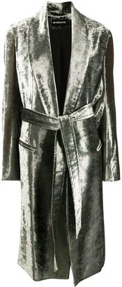 Ann Demeulemeester Belted Velvet Coat