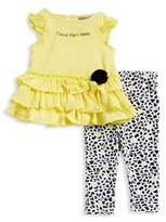 Calvin Klein Baby Girls Two-Piece Top and Bottom Set