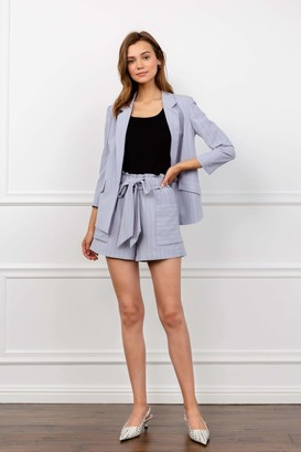J.ING Sophie Lavender Striped Shorts