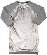 Sequined Cotton Sweatshirt Dress