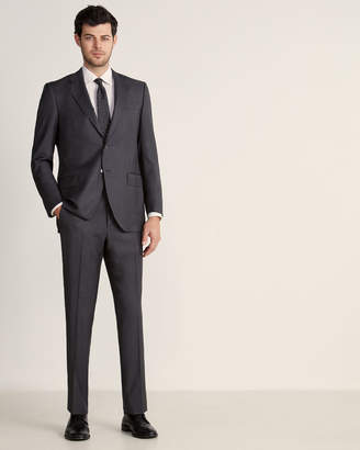 Luigi Bianchi Mantova Zegna Fabric Suits By Two-Piece Charcoal Glen Plaid Wool Suit
