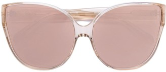 Linda Farrow Oversized Cat Eye Sunglasses