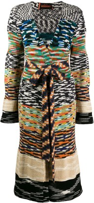 Missoni patterned knit longline cardigan