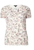 Ivory Floral Print Lace T-Shirt