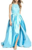 Mac Duggal Women's Embellished Romper Ballgown