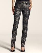 Chico's Platinum Denim Lace Slim-Leg Jean