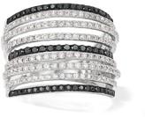 Effy Jewelry Effy Caviar 14K White Gold Black and White Diamond Ring, 1.21 TCW