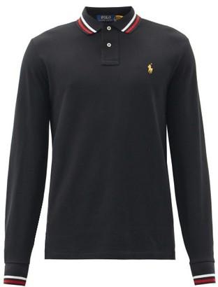 Polo Ralph Lauren Logo-embroidered Cotton-pique Polo Shirt - Black