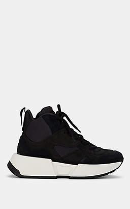 MM6 MAISON MARGIELA Women's Suede & Mesh Platform Sneakers - Black