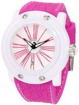 Glam Rock Women's GK1002 Miami Beach White Dial Magenta Silicone Watch
