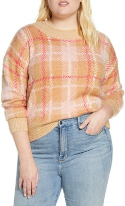 BP Plaid Crewneck Sweater