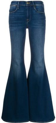 Frame Mid Rise Bell Bottom Jeans
