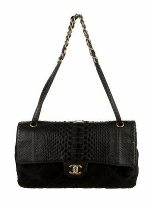 Chanel Python Flap Bag Black